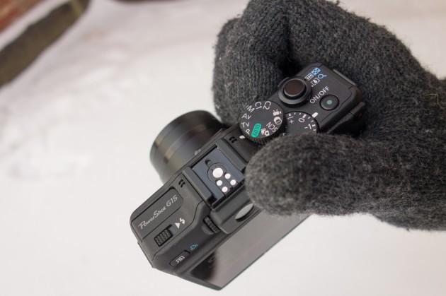Canon PowerShot G15 käes