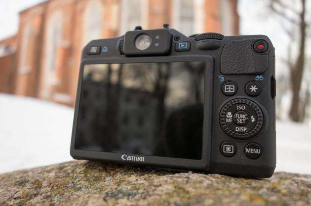 Canon PowerShot G15 tagantvaade