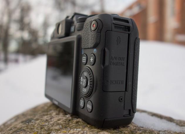 Canon PowerShot G15 külgvaade paremalt