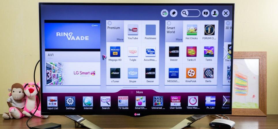 LED televiisori ja Smart TV ülevaade – LG LA860V