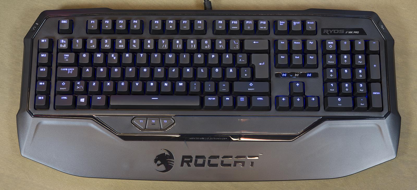 Roccat Ryos MK Pro klaviatuur sisselülitatud taustvalgustusega