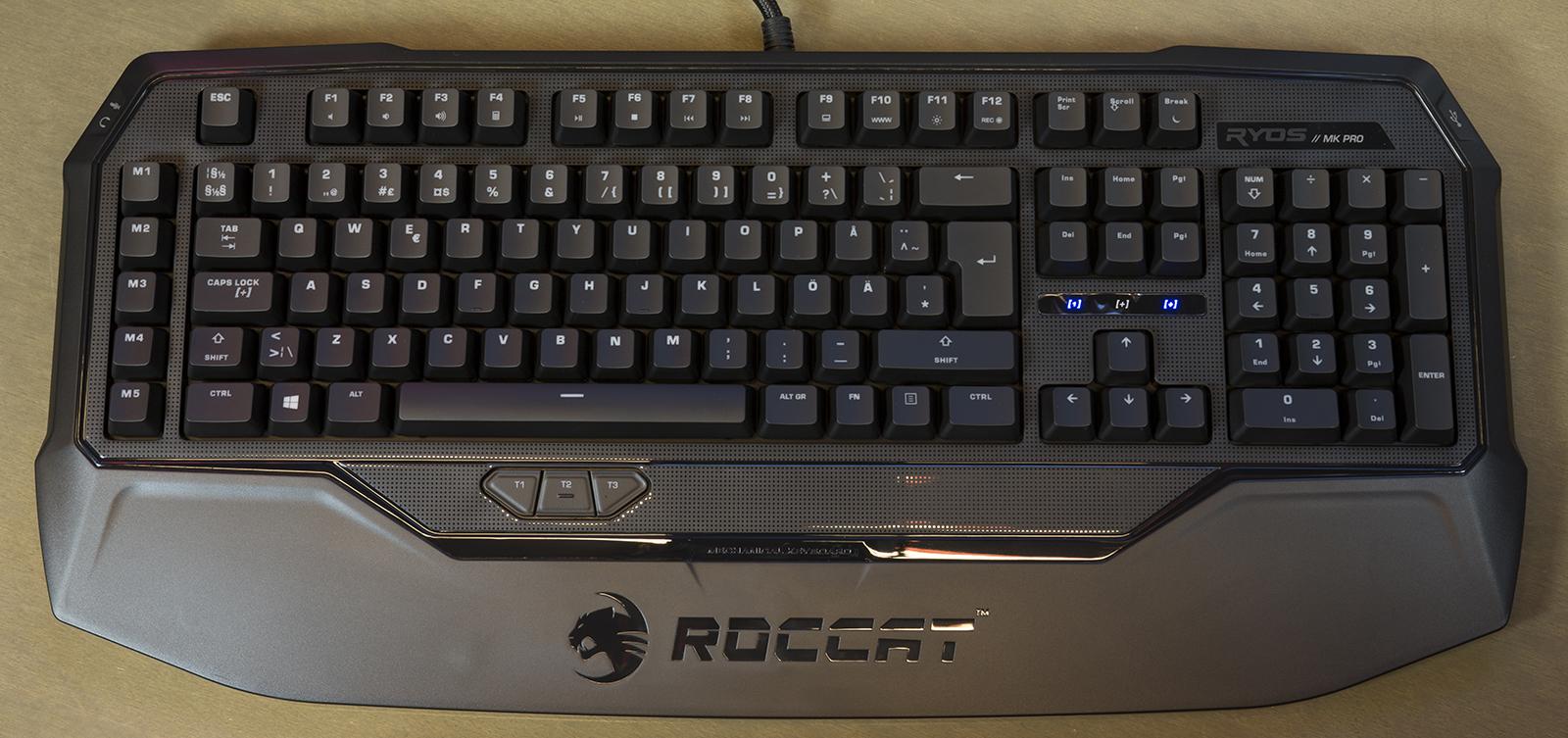 Roccat Ryos MK Pro klaviatuur väljalülitatud taustvalgustusega