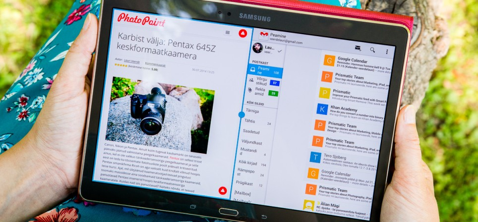 Samsung Galaxy Tab S tahvelarvuti – musklitega iludus