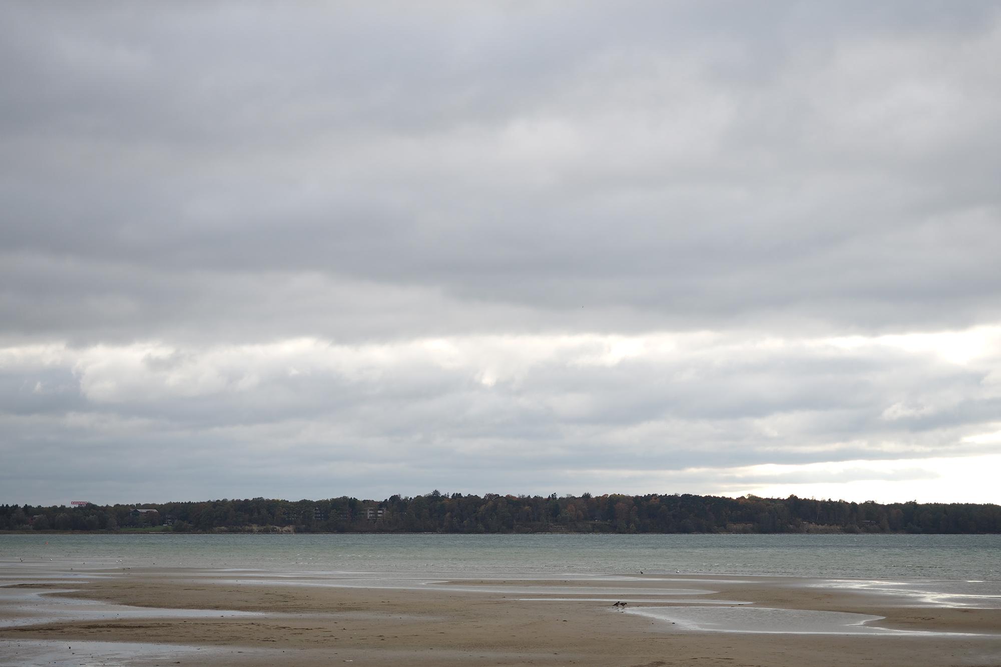 Fookuskaugus 40 mm | Ava f/2.8 | Säriaeg 1/400 sek | Tundlikkus ISO 80 Taeva paremas alumises osas on üksikud ülepõlenud kohad. Arvestades, et taevas oli suht hall-valge, on üsna üllatav, et meres on õrnalt siniseid-rohelisi toone näha. Liiv on samuti kergelt oranžikas, seega pilvise ilma kohta päris head toonid