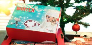 Manfrotto Pixi Mini statiivikomplekt kaamera ja nutitelefoni jaoks – jõuluteemalises kinkekarbis