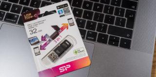 USB mälupulk kolme ühenduspesaga: Silicon Power Mobile C50